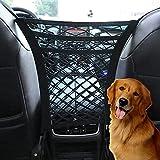 Pidien Car Mesh Organizer 3-Layer, Dog Net for Car Between Seats Back Seat Net Organizer, Pet Barrier Backseat Mesh Net for Cars