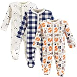 Hudson Baby Unisex Baby Cotton Preemie Sleep and Play, Forest