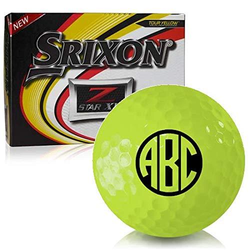 Buy Bargain Srixon Z Star XV Yellow Monogram Personalized Golf Balls
