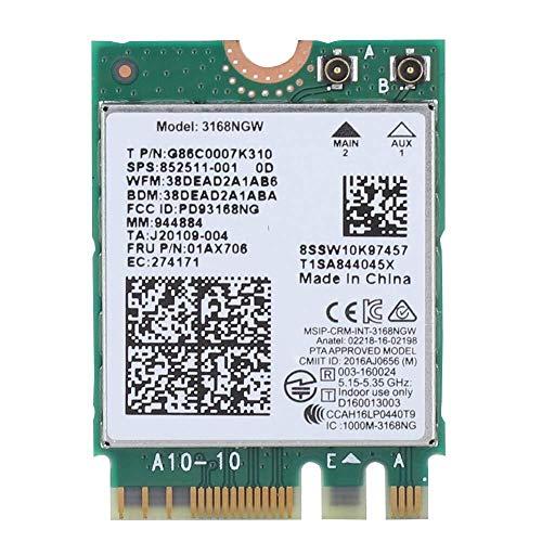 Juegos de computadora Tarjeta de red inalámbrica for Intel 3168NGW, Bluetooth 4.2 433Mbps 2.4ghz / 5hz Tarjeta inalámbrica inalámbrica NGFF M.2 de doble banda for Linux, Windows 7 / 8.1 / 10 Ligero y