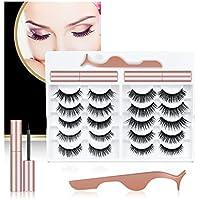 Danteng 10 Pairs of Reusable 3D & 5D False Eyelashes