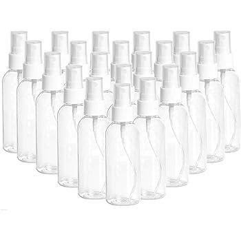 【US Stock】 100ml/3.4oz Clear Spray Bottles Fine Mist Sprayer Refillable Liquid Container, 48