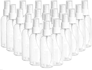 【US Stock】 100ml/3.4oz Clear Spray Bottles Fine Mist Sprayer Refillable Liquid Container, 48