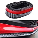 Keyzone 2.5m Auto Kohlefaser Universal Vorne Spoilerlippe Stoßfänger Gummi Spoiler Flügel Aufkleber
