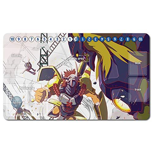 646210de -Digimon Spielematten , Digimon playmat Brettspiel MTG Playmat Tischmatte Spiele Größe 60X35 cm Mousepad Spielmatte für TCG CCG Yugioh Digimon Magic The Gathering