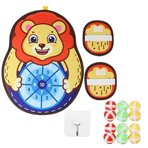 Dartboards - Juego de dardos para niños y padres, diseño de animales, color amarillo