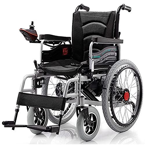 FGVDJ Silla de Ruedas eléctrica Plegable, Scooter de Silla de Ruedas portátil con Pendiente Antideslizante para Personas Mayores, sillas de Ruedas eléctricas motorizadas para t