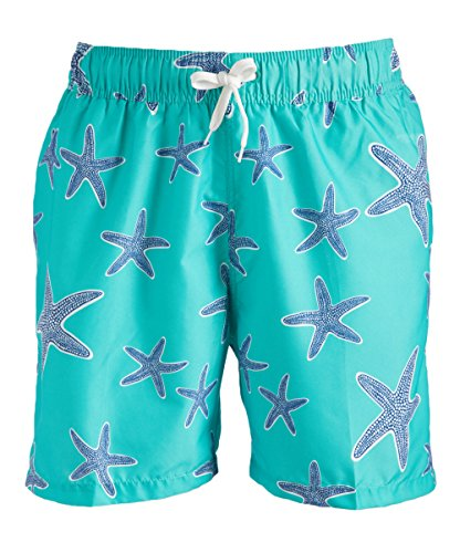 Kanu Surf Men's South Beach Quick Dry Volley Swim Trunks, Starfish Green, Large