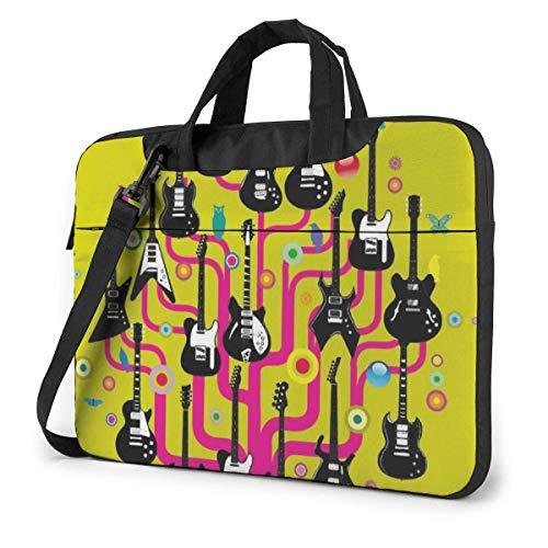 XCNGG Guitars Rock Colorful Computer Bag Durable Laptop Briefcase Shoulder Messenger Bag for Computer Notebook 15.6 inch