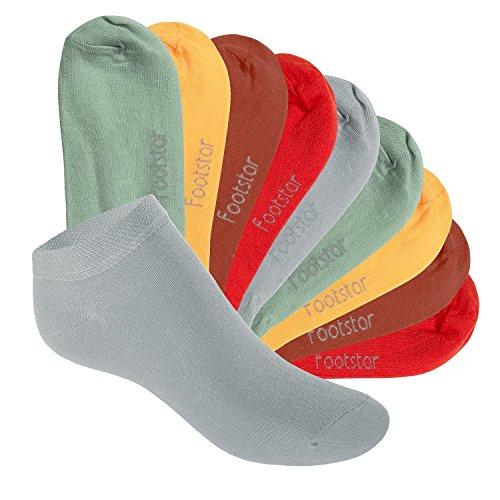 Footstar Kinder Sneaker Socken (10 Paar) - Sneak it! - Urban Camouflage 31-34