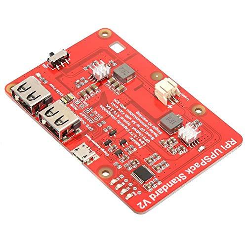 Placa de expansión Raspberry Pi, placa de expansión de paquete de batería de litio UPS Placa de expansión UPS HAT con...