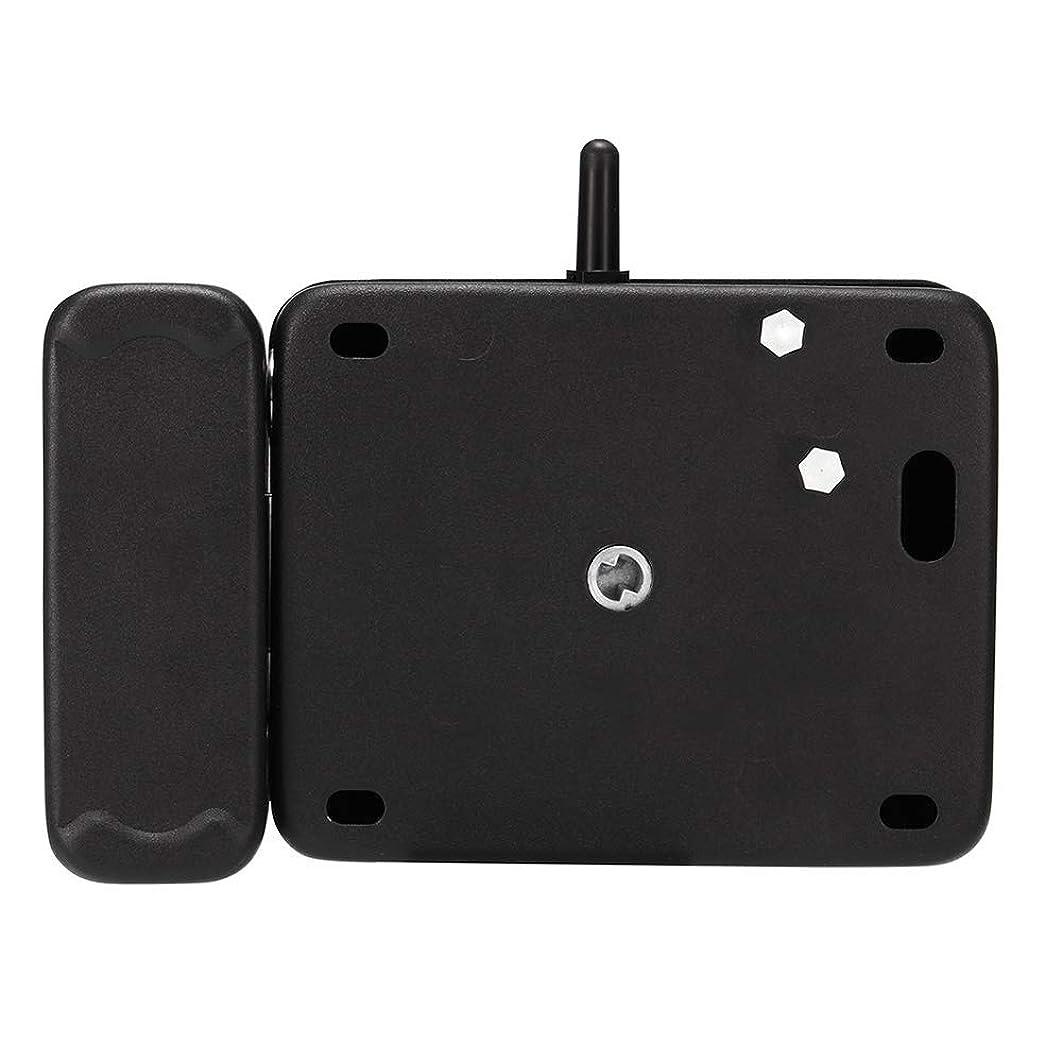 狂った影響力のある排他的スマートドアロック、 リモコンドアロックワイヤレス盗難防止ロックのBluetoothコントロールシステムブラック 家に簡単にアクセス (Color : Black, Size : One size)