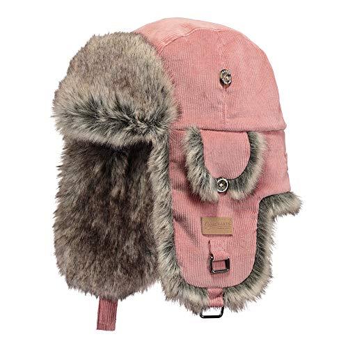 Barts Fliegermütze aus Kord mit Kunstfell - Pink - One Size