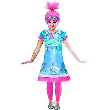 Disfraz y peluca de trolls de amapola - amapola - niña - disfraces ...