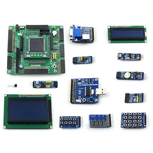 Waveshare XILINX Spartan-3E Series XC3S500E XILINX FPGA Development Board + LCD1602 + LCD12864 + 11 Accessory Kits Various Interfaces