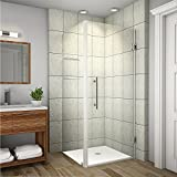 Aston SEN993-CH-36-10 Aquadica GS Completely Frameless Square Hinged Shower Enclosure with Glass Shelves, 36' x 36' x 72', Polished Chrome