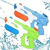 Pistola de Agua de Juguete, 2 PackPotente Chorro de Agua ,con un Alcance Largo 35ft y Gran Capacidad de 650 ML, Juguetes de Fiesta Verano Piscina Playa para Niños Niñas Adultos
