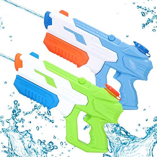 Pistola Acqua, 2 Pack Giocattoli Pistole ad Acqua, con Alta Capacità , Acqua Giocattolo per Bambini e Adulti, per Feste All'aperto Piscina Estiva Sulla Spiaggia,Regalo Estivo