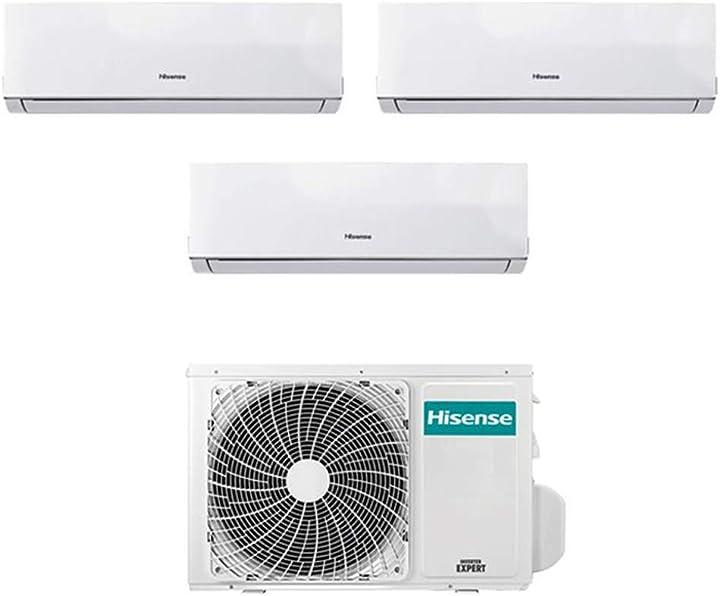 Climatizzatore trial split inverter hisense new comfort 9000+9000+12000 9+9+12 btu a++ 2xDJ25VE00G+DJ35VE00G ?2xDJ25VE00G+DJ35VE00G