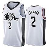 Maillot de Baloncesto City Edition Kawhi Leonard 2#, Uniforme de Baloncesto Los Angeles Clippers para Hombre, Ropa de Entrenamiento sin Mangas Swingman-S