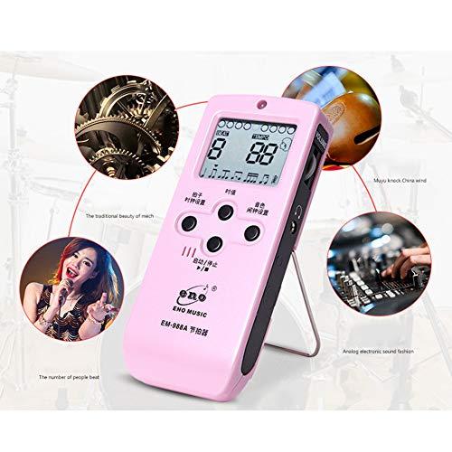 Aoile EM-988A Elektronische stemmetronoom voor ritmische gitaar, universele gitaar, viool, trommel, piano model One Roze