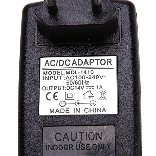 Demiawaking DC14V 1A Adapter AC 100V-240V to DC 14V Konverter Netzteil Adapter 5.5 * 2,5 mm