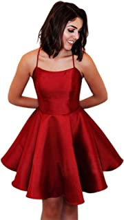 Jonlyc Halter A Line Short Homecoming Dresses with Open Back