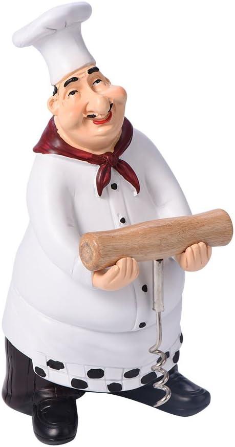 Import Yissone Cash special price Chef Figurine Miniature Decora Cute Statue