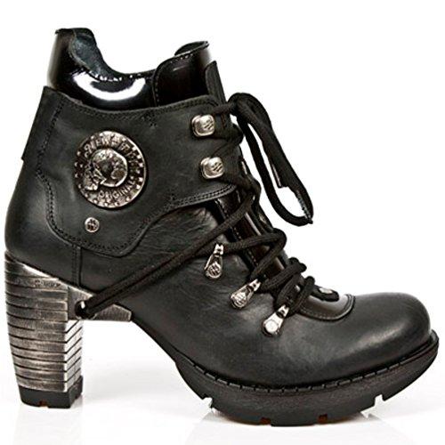 NEWROCK New Rock Botas Estilo M.TR010 S1 Negro Mujer Talones De Acero (36)