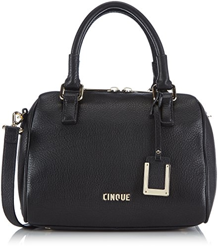 CINQUE Roberta Handtasche mit Reißverschluss 11826 9000 C16 Damen Henkeltaschen 24x22x15 cm (B x H x T), Schwarz (schwarz 9000)