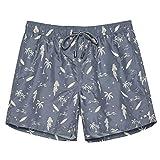 TY.OLK Traje de baño de Secado rápido para Hombre con Pantalones Cortos Deportivos con Bolsillos y Forro de Malla