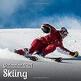 Calendar 2021 Skiing: Beautiful Skiing Photos Monthly Mini Calendar | Small Size