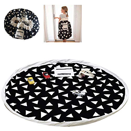 Kinderspielzeug-Aufbewahrungsbeutel Faltbare Teppich Tragbare Organizer Spielzeug Kinder Spielmatte