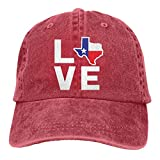 Gorra De Béisbol Unisex Love Texas Map Sombrero De Deportes Al Aire Libre Ajustable Hip Hop Sombreros Classic Hockey Béisbol Gorras Idea Sombrero De Sol