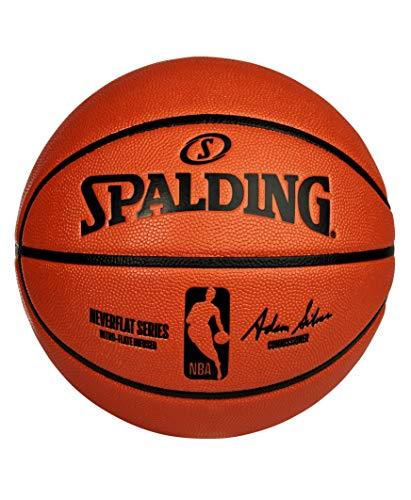 Spalding Balón de baloncesto unisex de la NBA NeverFlat Game Ball Réplica, Multi, 29.5 pulgadas