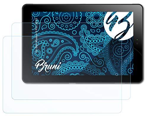 Bruni Schutzfolie kompatibel mit Odys Windesk 9 Plus 3G V2 Folie, glasklare Bildschirmschutzfolie (2X)