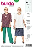 Burda Schnittmuster 6307, Blusen-Shirt [Damen, Gr. 46-60] zum selber nähen, ideal für Anfänger [L2]