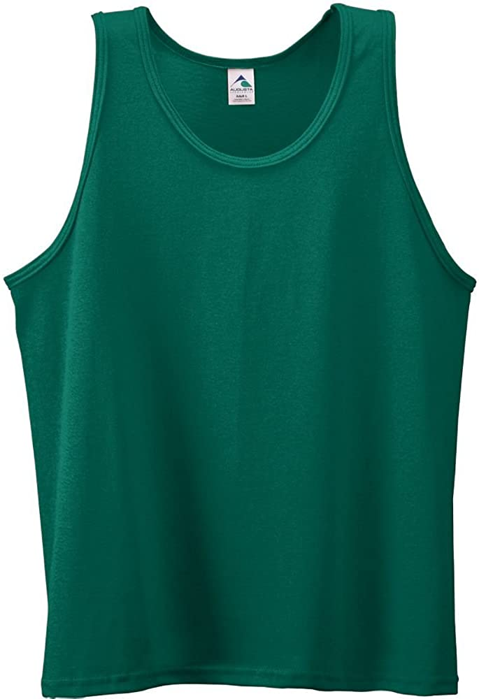 Youth Poly/Cotton Athletic Tank-GREEN