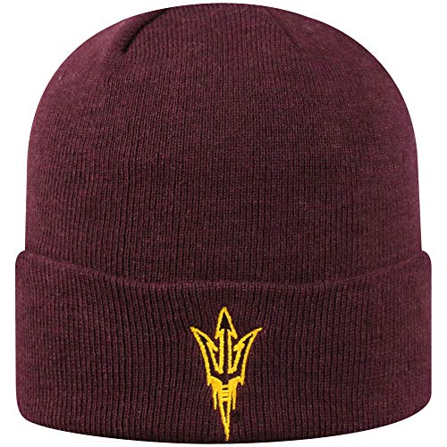 Top of the World Arizona State Sun Devils Men's Cuffed Knit Hat Team Icon, One Fit