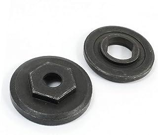 X-DREE Black Metal Marble Cutter Part Inner Outer Flange 2 in 1 Set(Cortador de mármol de metal negro, pieza de brida exte...