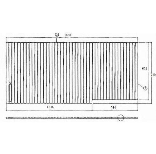 お風呂のふた TOTO EKK81045WR 風呂ふた シャッター式 巻きふた 外寸:1560×710 トト