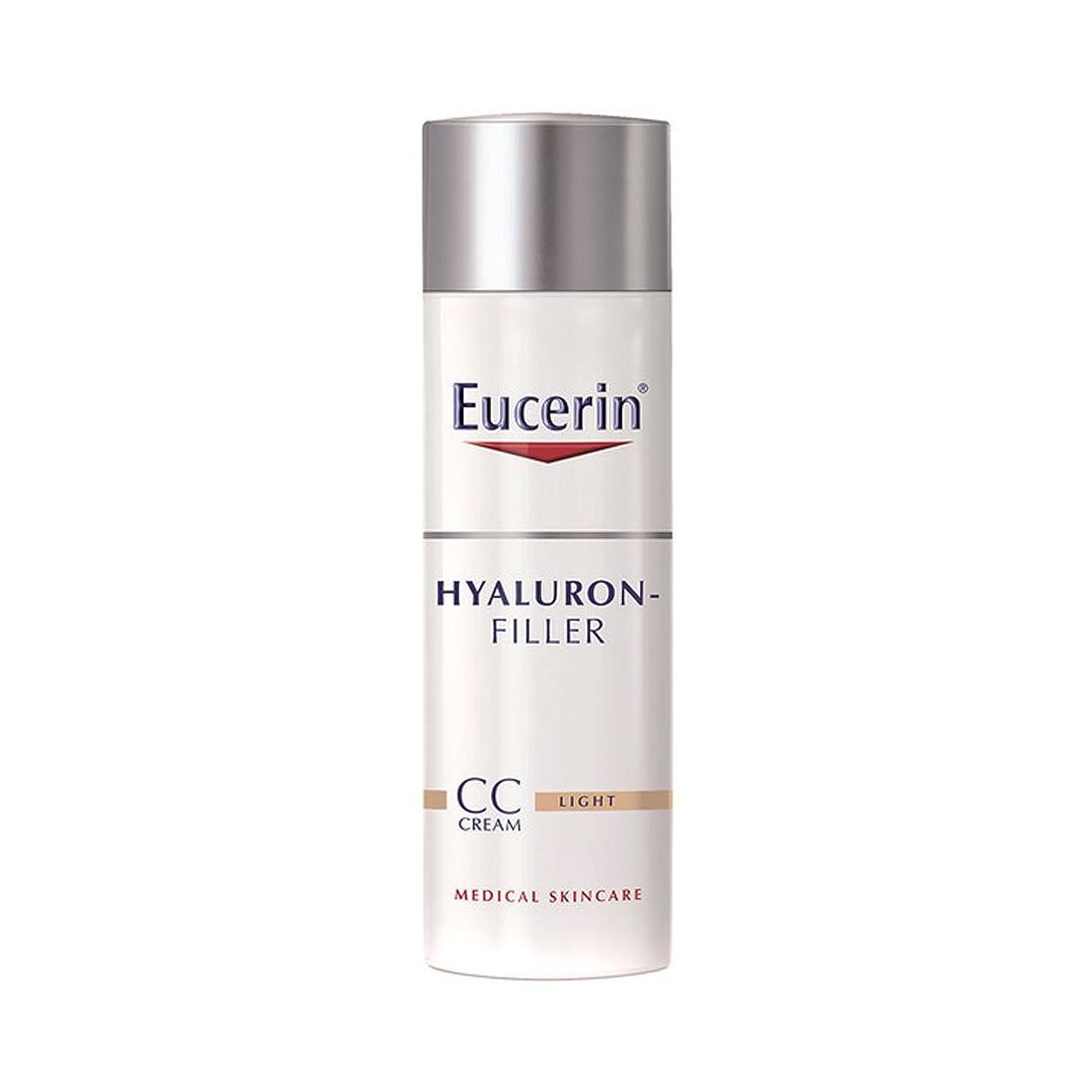 外部加害者奴隷Eucerin Hyaluron-filler Cc Cream Light 50ml [並行輸入品]