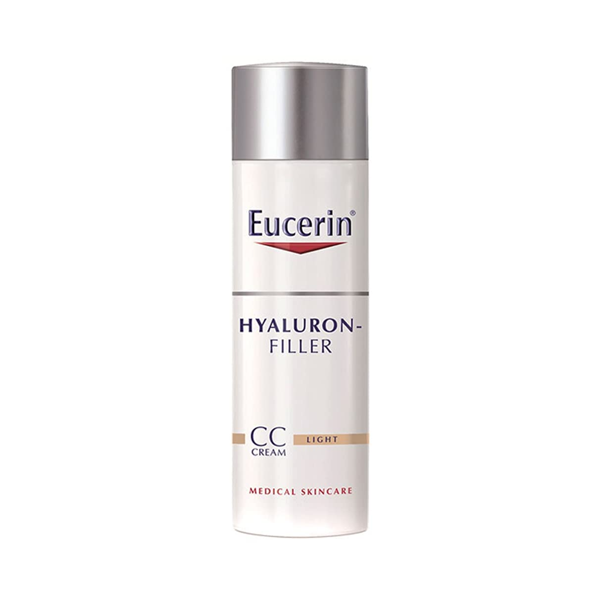ケイ素無知ベンチャーEucerin Hyaluron-filler Cc Cream Light 50ml [並行輸入品]