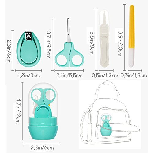 Suntapower Babypflege Set mit Baby Nagelschere, Baby Nagelknipser, Glasnagelfeile und Nasenpinzette – in Sicherheitsbox (Nagelschere) - 7
