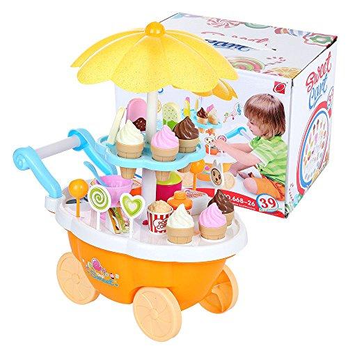 Eléctrico Dulce Trolley Tienda Helado Dulces Niños Roll Play Juguetes Regalo