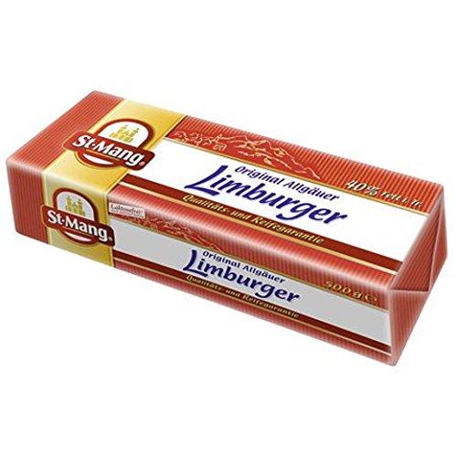 St. Mang Limburger Stange deutscher Weichkäse, 40% Fett i. Tr. 500gr