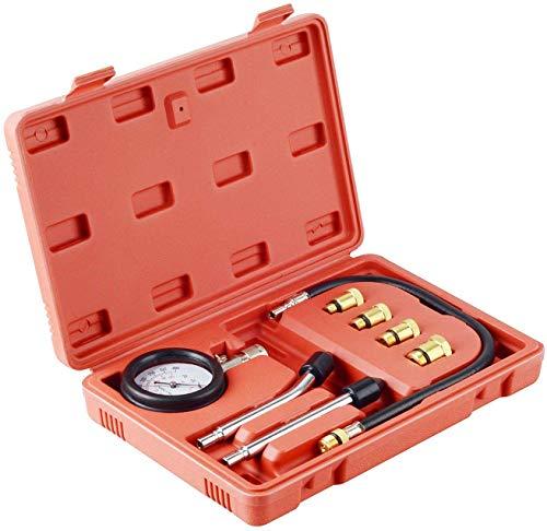 JALAL Kit de comprobador de compresión de Motor de Gasolina Profesional para automóviles y Motocicletas