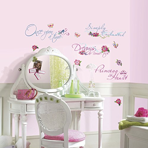 RoomMates Stickers Phrase Disney Chambre Princesse