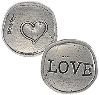 Crosby & Taylor Big Heart Love Pewter Sentiment Coin