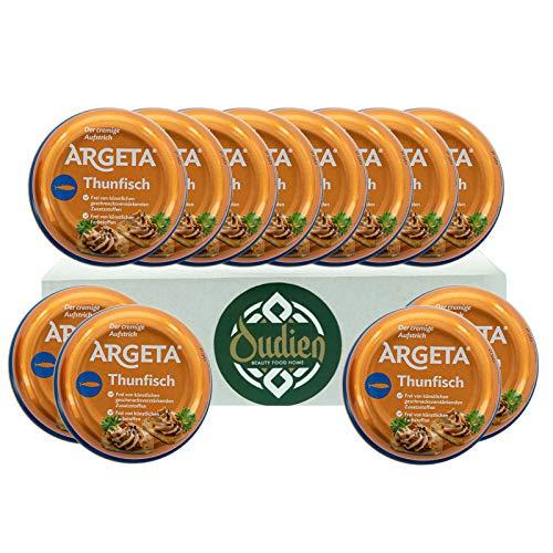 OUDIEN Set 12x 95g Argeta Brotaufstrich Thunfisch, cremiger Aufstrich, Pastete aus natürlichen Zutaten